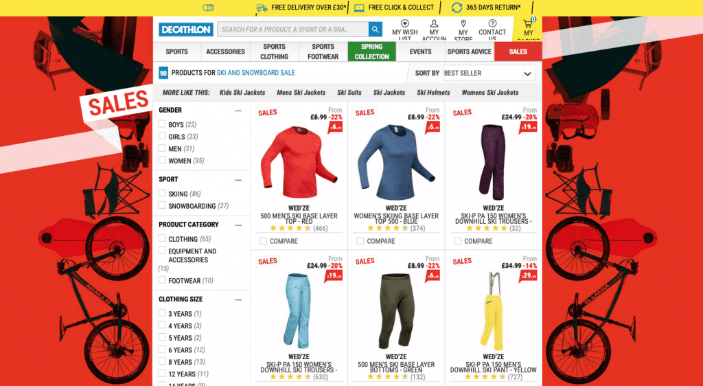 DECATHLON SKI SALE