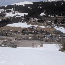 IT AINT OVER 'TILL THE MOUNTAIN BIKES ARRIVE IF YOU'RE MOTORHOME SKIING
